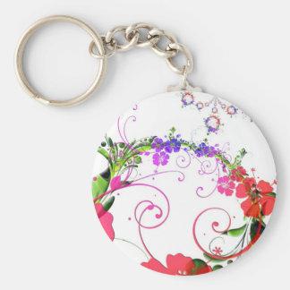 Floral Design 02 Key Chains