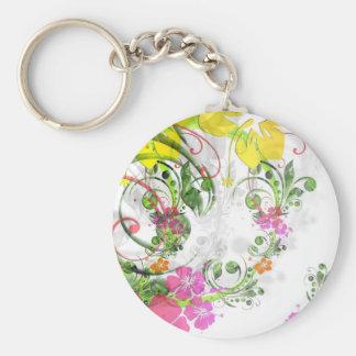 Floral Design 03 Key Chain
