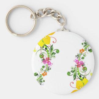 Floral Design 04 Keychains