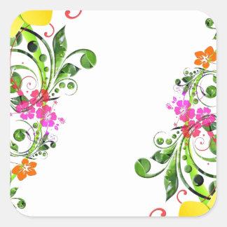 Floral Design 04 Square Sticker