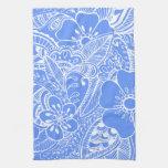 Floral Design 1 - Blue Hand Towel
