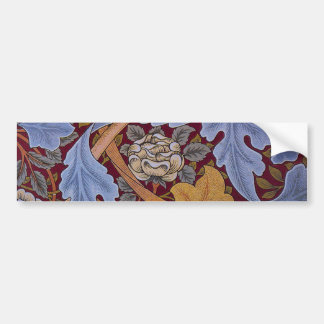 Floral Design Acanthus Vintage William Morris Car Bumper Sticker