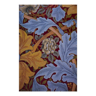 Floral Design Acanthus Vintage William Morris Poster