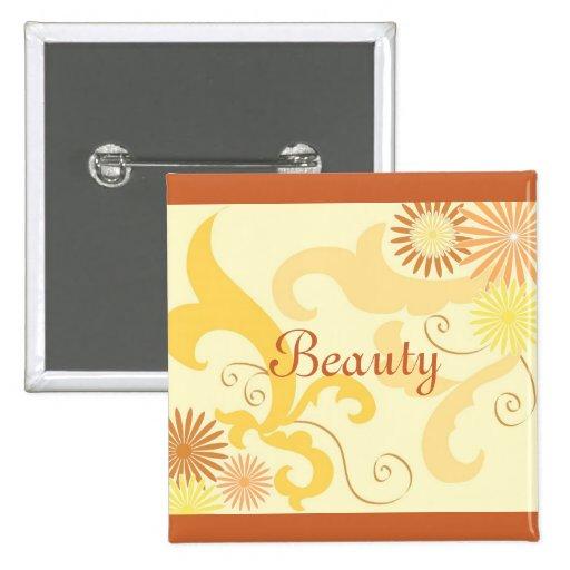 Floral design buttons