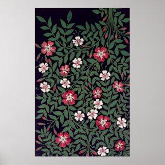 Floral Design by J. Owen, 1863 Poster