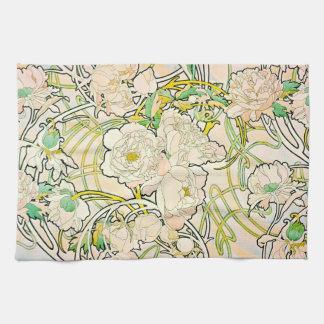 Floral Design c1885 Hand Towels
