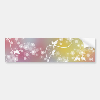 Floral Design Car Bumper Sticker