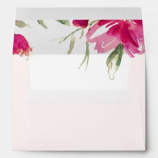 Floral Design Custom Graduation Envelopes