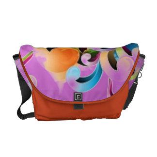 Floral design elegant bold and stylish courier bag