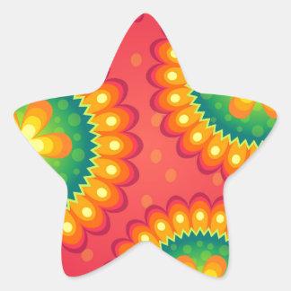 floral Design Flower Star Sticker