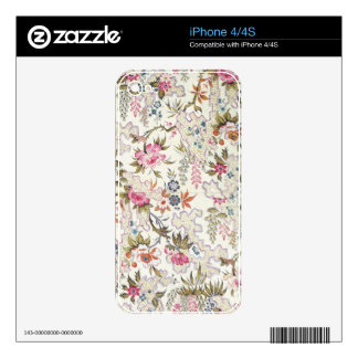 Floral design for silk material with stylized flow decals for the iPhone 4