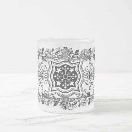 Floral Design Frosted Mug
