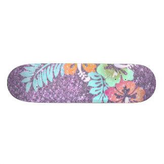 Floral Design GINA,pink Skate Deck