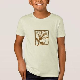 Floral Design Kids Organic T-Shirt
