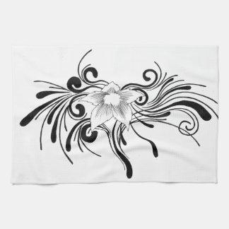 Floral Design Kitchen Towel