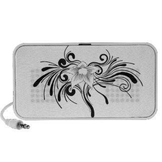 Floral Design Laptop Speaker