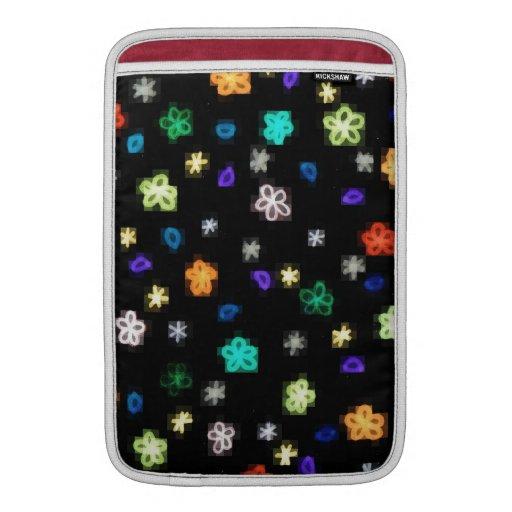 Floral design MacBook sleeves