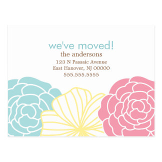 Floral Design Moving Announcements Post Card