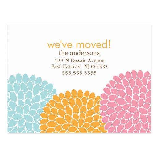 Floral Design Moving Announcements Postcards