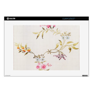 Floral design of carnations and roses for a silk m decal for laptop