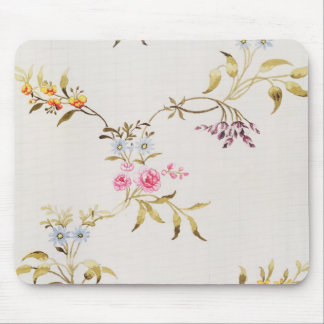 Floral design of carnations and roses for a silk m mouse pad