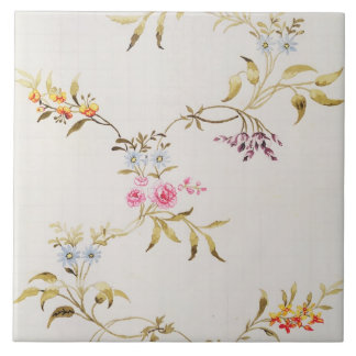 Floral design of carnations and roses for a silk m tile