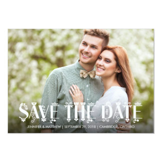 Floral Design | Photo Save the Date Card
