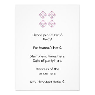 Floral Design, Pink and Other Pastel Colors. Personalized Announcements