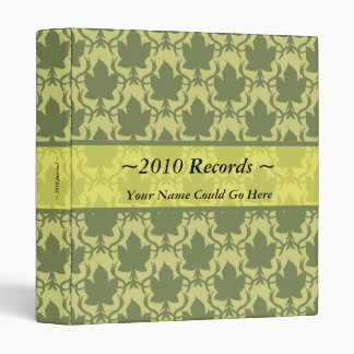 Floral Design Record Keeping Binder