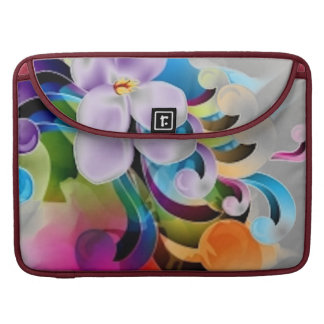 Floral design sleeve for MacBooks