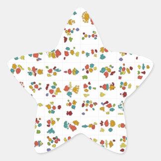 Floral Design Star Sticker