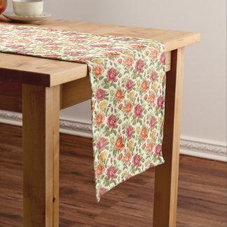 floral design table runner roses