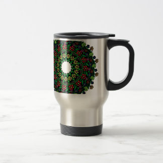 floral design travel mug
