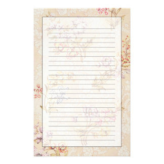 Floral design with peonies, lilies and roses for S Stationery