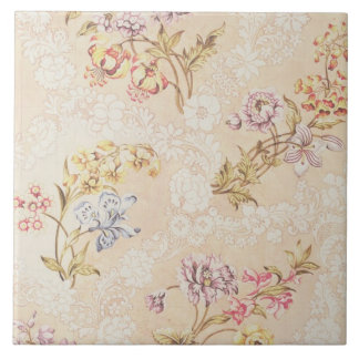 Floral design with peonies, lilies and roses for S Tile