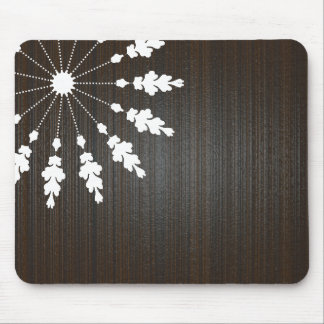 Floral design-Wooden BG Mouse Pad