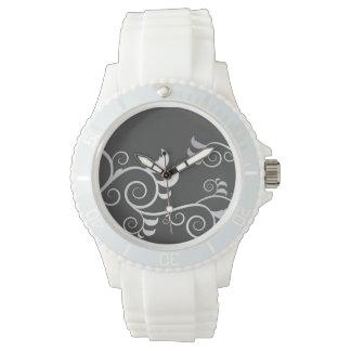 Floral Design Wristwatch