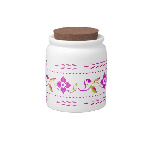 Floral Designer Candy Jar
