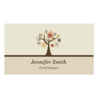 Floral Designer - Elegant Natural Theme Double-Sided Standard Business Cards (Pack Of 100)