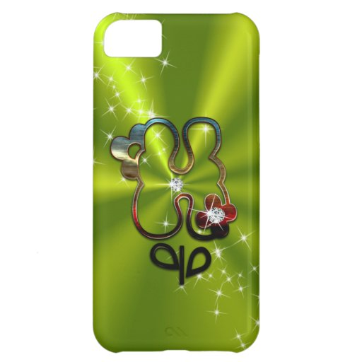 Floral Diamond Monogram Letter H iPhone 5C Cases from Zazzle.