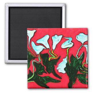 Floral digital design print magnet
