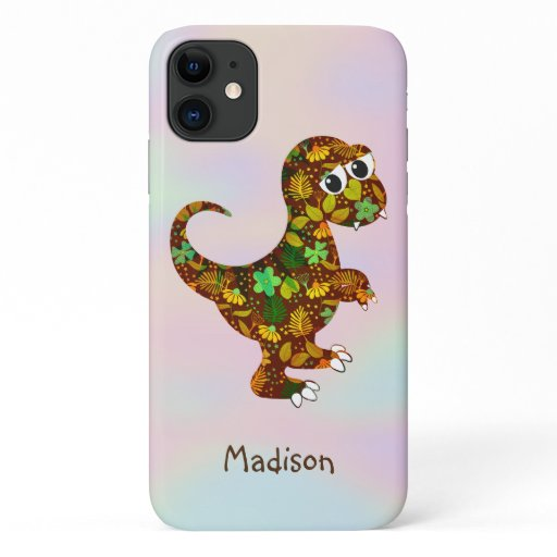 Floral Dinosaur iPhone 11 Case