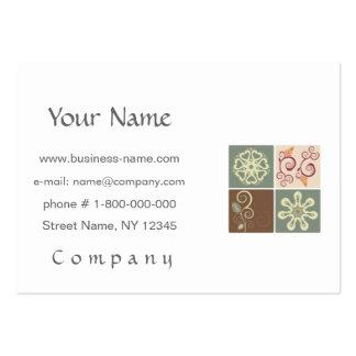 Floral - diseño de la gente tarjetas de visita grandes