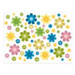 Floral - diseño del hippie tarjeta postal