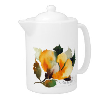 Floral Dish Collection Teapot