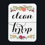 """Floral Dishwasher Magnet<br><div class=""""desc"""">Use this magnet on the front of your dishwasher to help remember if dishes are clean or dirty.</div>"""