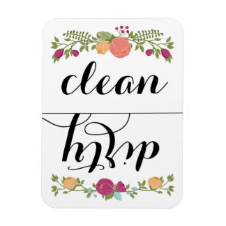 Floral Dishwasher Magnet
