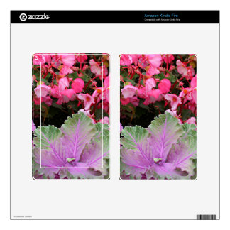 Floral display decal for kindle fire