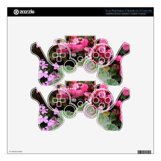 Floral display decal for PS3 controller