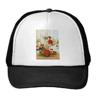 Floral display  flowers hat